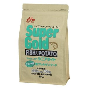 スーパーゴールド フィッシュ&ポテト シニアライト シニア犬用 低アレルゲンフード 800g 【特売】|aquabase