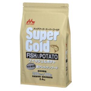 スーパーゴールド フィッシュ&ポテト 子犬・成犬用 低アレルゲンフード 2.4kg 【特売】|aquabase