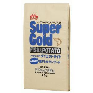 スーパーゴールド フィッシュ&ポテト ダイエットライト 体重調整用 低アレルゲンフード 7.5kg 【特売】|aquabase