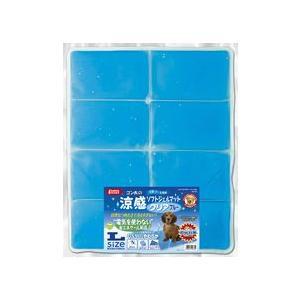 マルカン 涼感ソフトジェルマットクリア L ブルー|aquabase