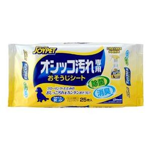 ジョンソン JOYPET オシッコ汚れ専用 おそうじシート 25枚入|aquabase