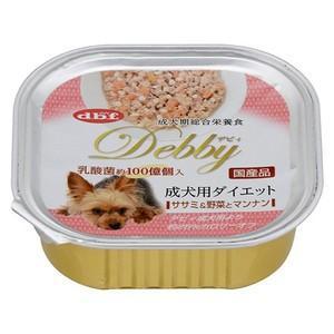 デビフ デビィ 成犬用 ダイエット ササミ&野菜とマンナン 100g 【特売】|aquabase