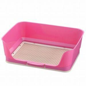 リッチェル しつけ用ステップ壁付きトイレ レギュラー ピンク|aquabase