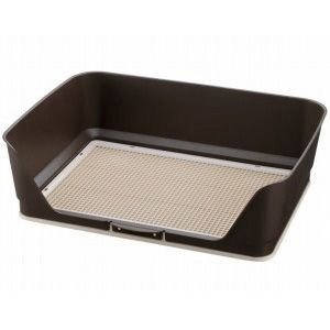 リッチェル しつけ用ステップ壁付きトイレ ワイド ダークブラウン|aquabase