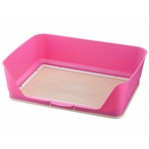 リッチェル しつけ用ステップ壁付きトイレ ワイド ピンク|aquabase