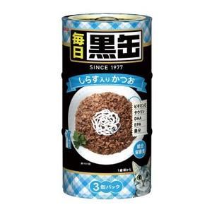 毎日黒缶3P しらす入りかつお 480g|aquabase