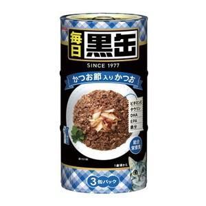 毎日黒缶3P かつお節入りかつお 480g|aquabase