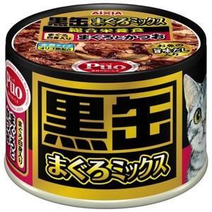 黒缶 まぐろミックス まぐろ白身入りまぐろとかつお 160g aquabase