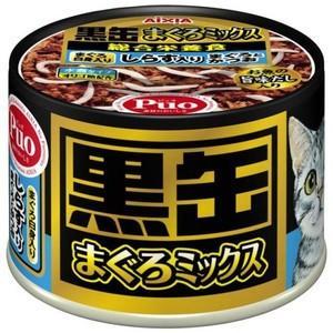 黒缶 まぐろミックス しらす入りまぐろとかつお まぐろ白身入り 160g aquabase