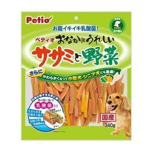ペティオ おなかにうれしい ササミと野菜 340g|aquabase