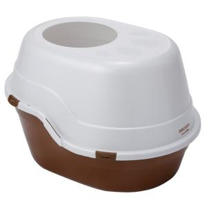 ヤマヒサ necoco 上から入る猫トイレ ブラウン|aquabase