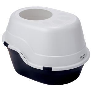 ヤマヒサ necoco 上から入る猫トイレ ブラック|aquabase