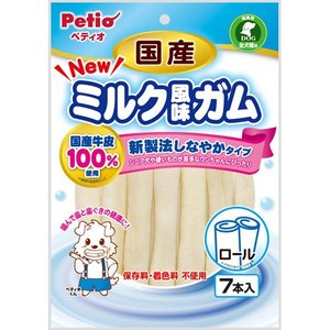 ペティオ NEW国産ミルク風味ガム ロール 7本|aquabase