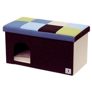 ペティオ Porta ドッグハウス&スツール ブルーモザイク ワイド|aquabase