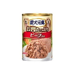 愛犬元気 缶 ビーフ入り 375g|aquabase
