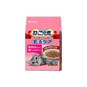 ねこ元気 毛玉ケア 成猫用 まぐろ・チキン・野菜入り 1.8kg|aquabase