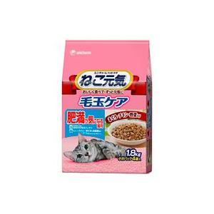 ねこ元気 毛玉ケア 肥満が気になる猫用 まぐろ・チキン・野菜入り 1.8kg|aquabase