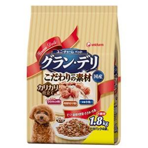 グラン・デリ 成犬用 新食感ささみ入り粒・本物小魚・角切りビーフ粒入り 1.8kg|aquabase