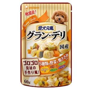 グラン・デリ パウチ 成犬用 鶏ささみ・かぼちゃ入り 60g|aquabase
