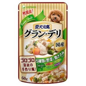 グラン・デリ パウチ 成犬用 鶏ささみ・ブロッコリー入り 60g|aquabase