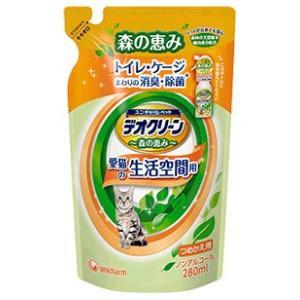 ユニチャーム デオクリーン 消臭スプレー 猫用 つめかえ用 280ml|aquabase