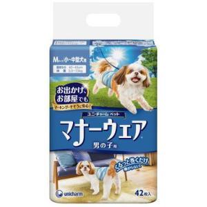 ユニチャーム マナーウェア 男の子用 Mサイズ 小〜中型犬用 42枚入|aquabase