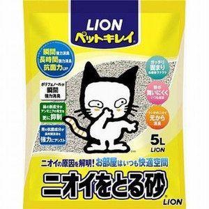 ライオン ペットキレイ ニオイをとる砂 5L 【特売】|aquabase