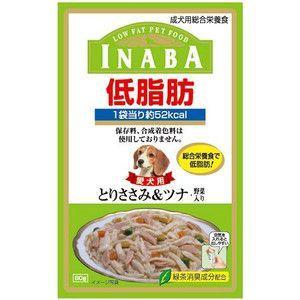 いなば 低脂肪 とりささみ&ツナ・野菜入り 80g|aquabase