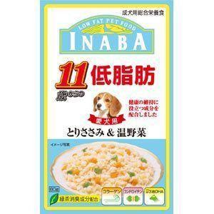 いなば 低脂肪 11歳からのとりささみ&温野菜 80g|aquabase
