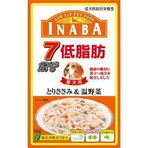 いなば 低脂肪 7歳からのとりささみ&温野菜 80g|aquabase
