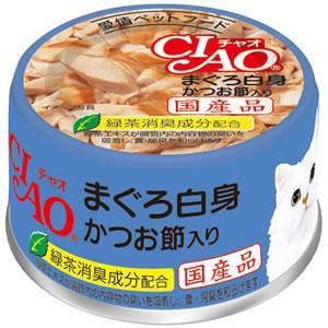 チャオ まぐろ白身 かつお節入り 85g|aquabase