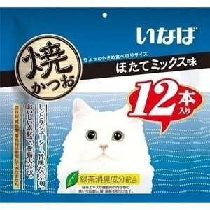 いなば 焼かつお ほたてミックス味 12本|aquabase
