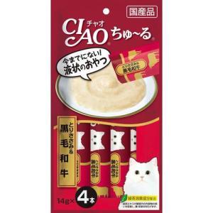 CIAO ちゅ〜る とりささみ&黒毛和牛 14gx4本|aquabase