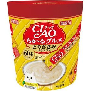 CIAO ちゅ〜るグルメ とりささみバラエティ 14gx60本|aquabase