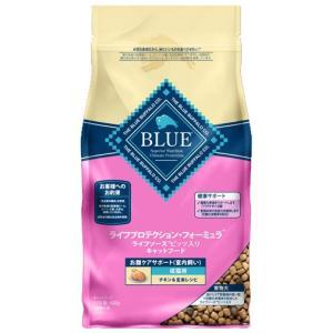 ブルーバッファロー 成猫用 室内飼い お腹ケアサポート チキン&玄米レシピ 400g|aquabase