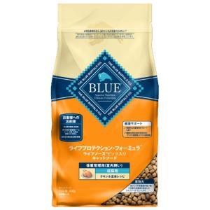 ブルーバッファロー 成猫用 室内飼い 体重管理用 チキン&玄米レシピ 400g|aquabase