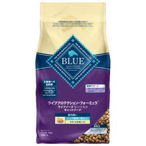 ブルーバッファロー シニア猫用(7歳以上) 室内飼い チキン&玄米レシピ 400g|aquabase