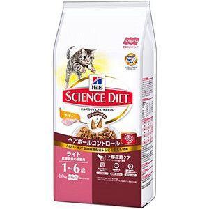 サイエンスダイエット  ヘアボール コントロール ライト チキン 肥満傾向の成猫用 1.8kg|aquabase