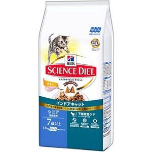 サイエンスダイエット インドアキャット シニア チキン 高齢猫用 1.8g|aquabase