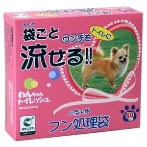 わんちゃんトイレッシュ 小型犬 徳用 60枚入|aquabase