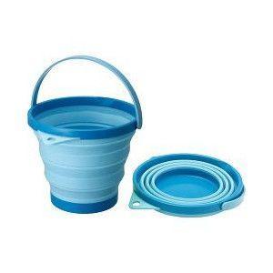 伊勢藤 ソフトバケツ 8型 ブルー|aquabase
