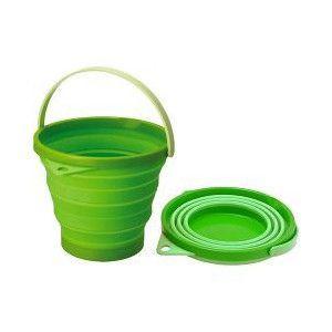 伊勢藤 ソフトバケツ 8型 グリーン|aquabase