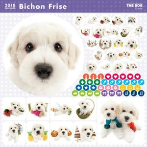 2018年度版 THE DOG カレンダー ビション・フリーゼ|aquabase|03