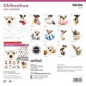 2018年度版 THE DOG カレンダー チワワ|aquabase|02