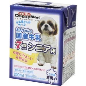 わんちゃんの国産牛乳 7歳からのシニア用 200ml 【特売】|aquabase