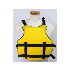 カヌー・ボート用フローティングベスト アクアビーチABCS2012 イエロー 競技用・練習用|aquabeach2