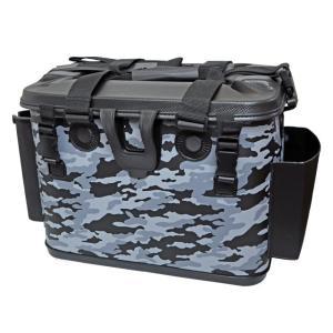 タックルバッグ ロッドスタンド付 BK-2115 グレーカモ 40cm ファインジャパン 釣り具|aquabeach2