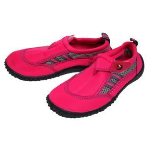 売り尽くしセール特価 子供用ビーチシューズ BS-8126 ピンク ファインジャパン 水遊び 川遊び|aquabeach2