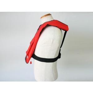 自動膨張式 ライフジャケット 肩掛式 オーシャンLG-1型レッド 胸囲150cmまで対応 国交省認定品 タイプA 検定品 桜マーク付|aquabeach2|04