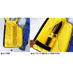 自動膨張式 ライフジャケット 肩掛式 オーシャンLG-1型レッド 胸囲150cmまで対応 国交省認定品 タイプA 検定品 桜マーク付|aquabeach2|06